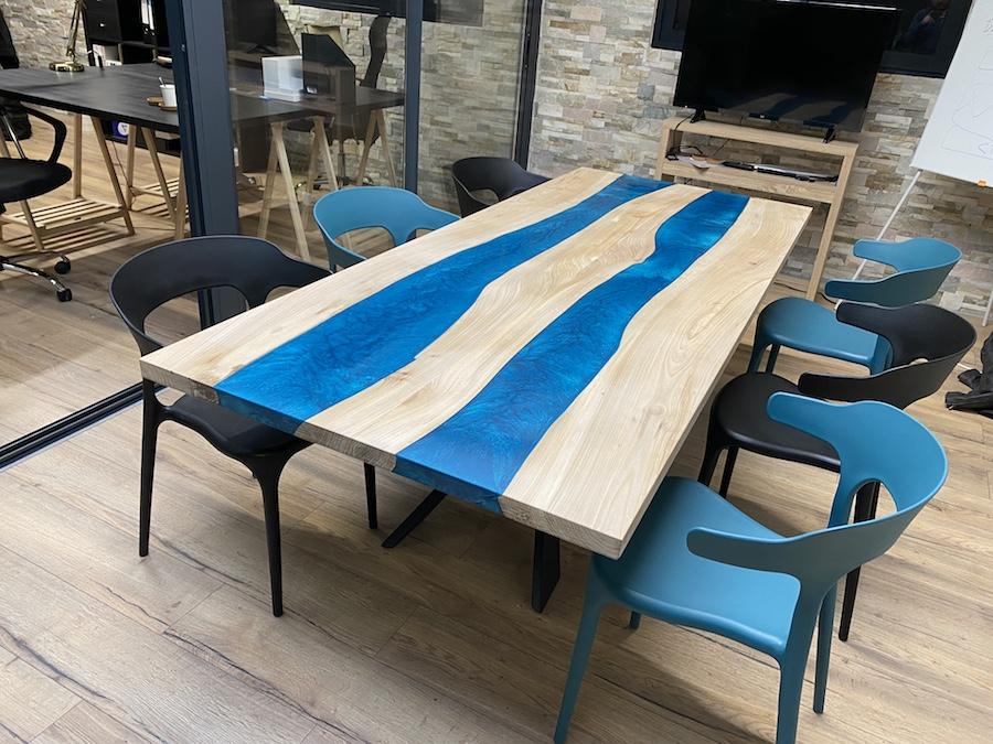 table réunion epoxy